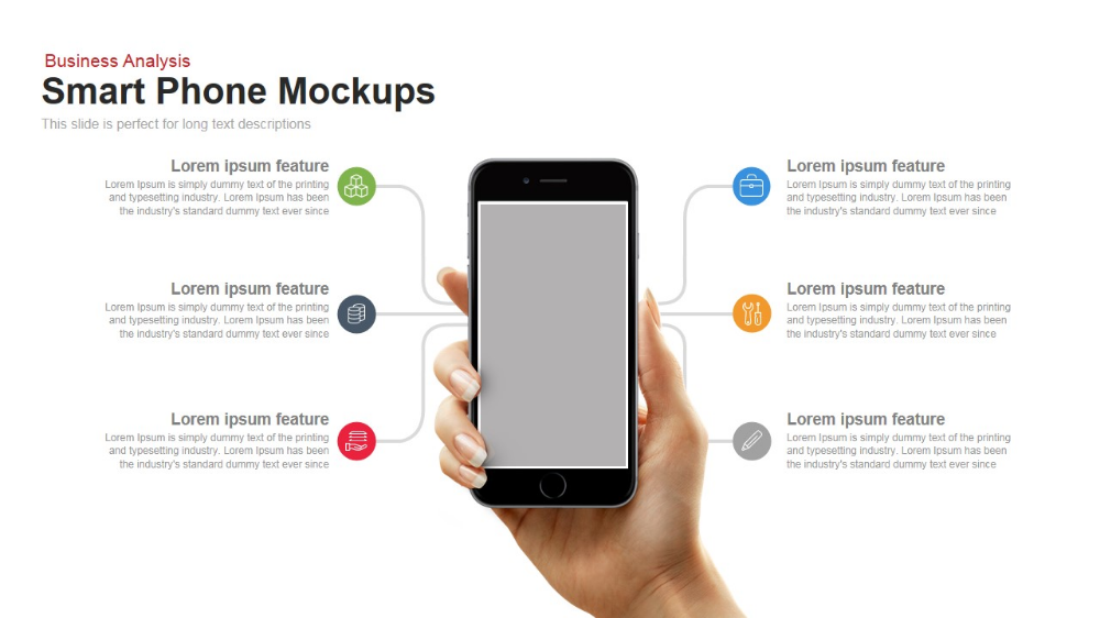 SmartPhone Mockup PowerPoint Template and Keynote Slide