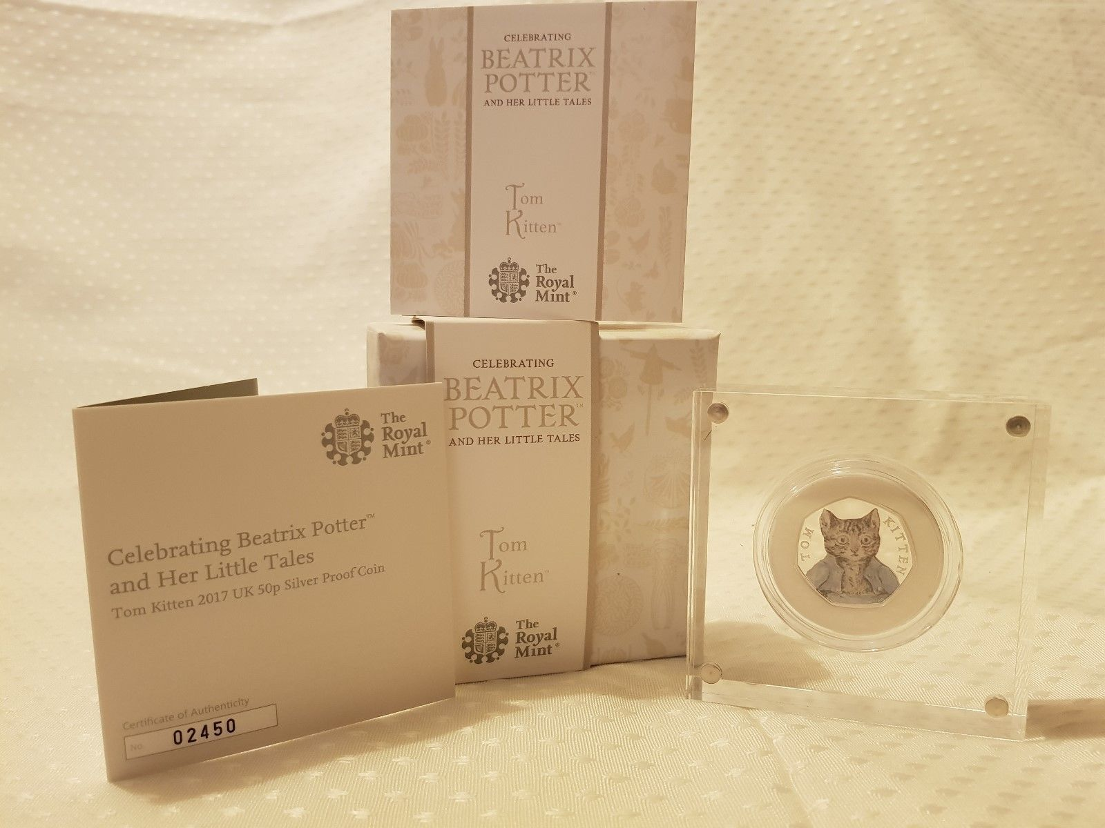 Tom Kitten 2017 UK 50p Silver Proof Coin - SOLD OUT AT ROYAL MINT