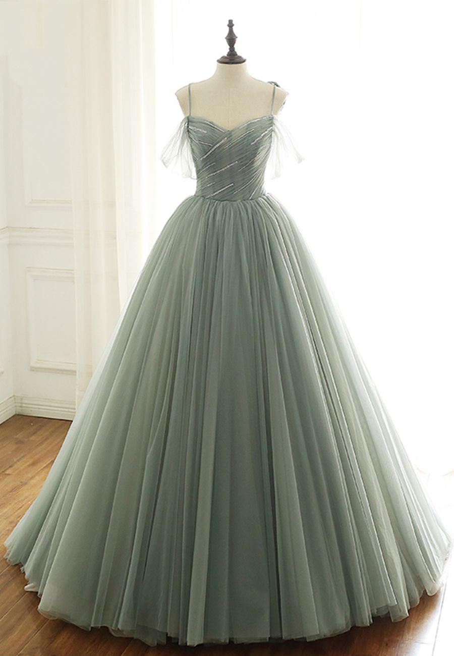 Elegant Tulle Long Prom Gown Formal Dress Gowns Ball Gowns Dresses [ 1300 x 900 Pixel ]