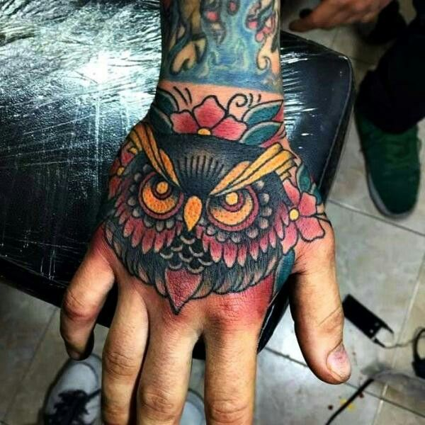 Owl Tattoo In Hand