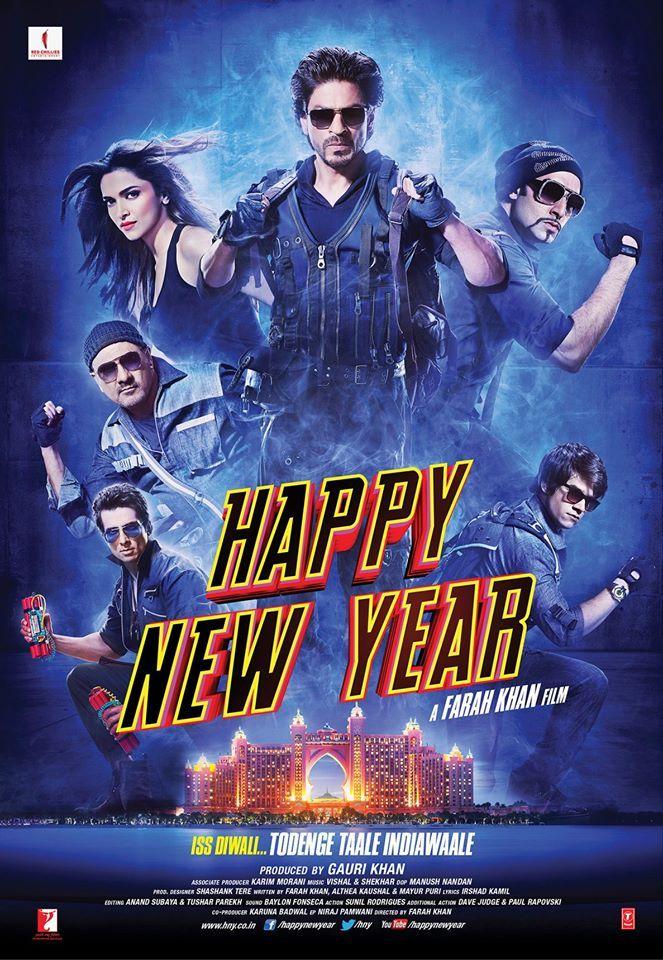 The Ultimate Happy New Year Poster: Shah Rukh, Deepika, Abhishek, Boman,  Sonu, Vivaan Rock In A New Look | Happy new year movie, New year movie, Happy  new year bollywood