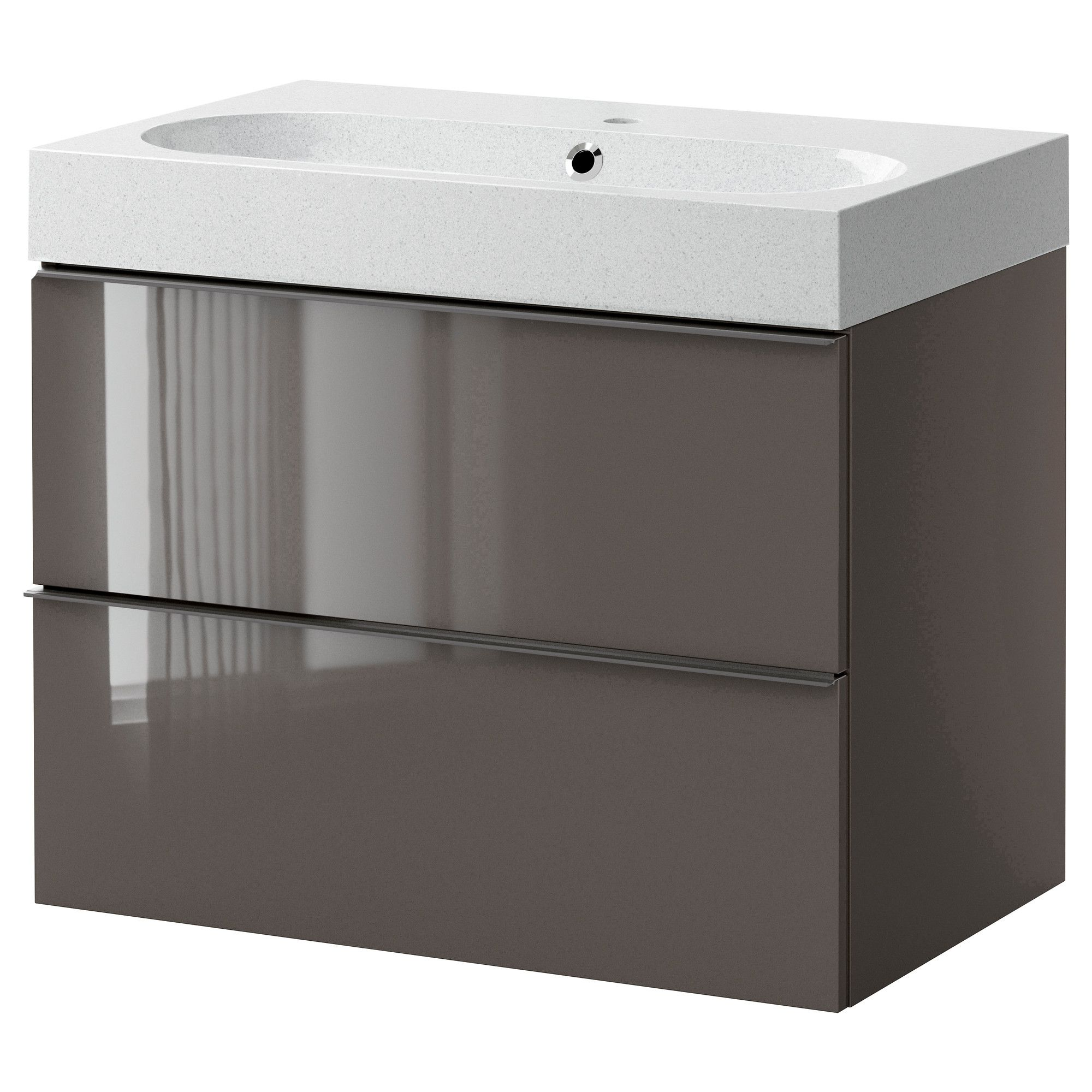 Bathroom sink cabinets ikea - Godmorgon Br Viken Sink Cabinet With 2 Drawers High Gloss Gray Light Gray Airstream Bathroomikea