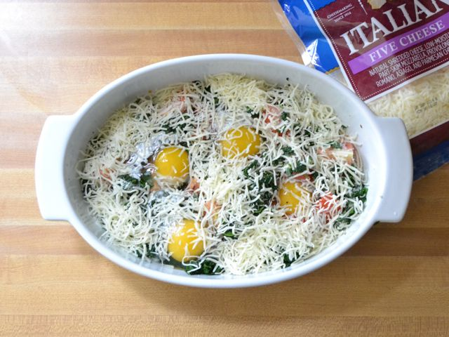 Baked Eggs with Spinach and Tomatoes - Budget Bytes