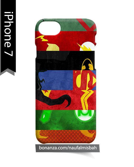 Justice League Superhero Symbols Iphone 7 Case Cover Wrap Around