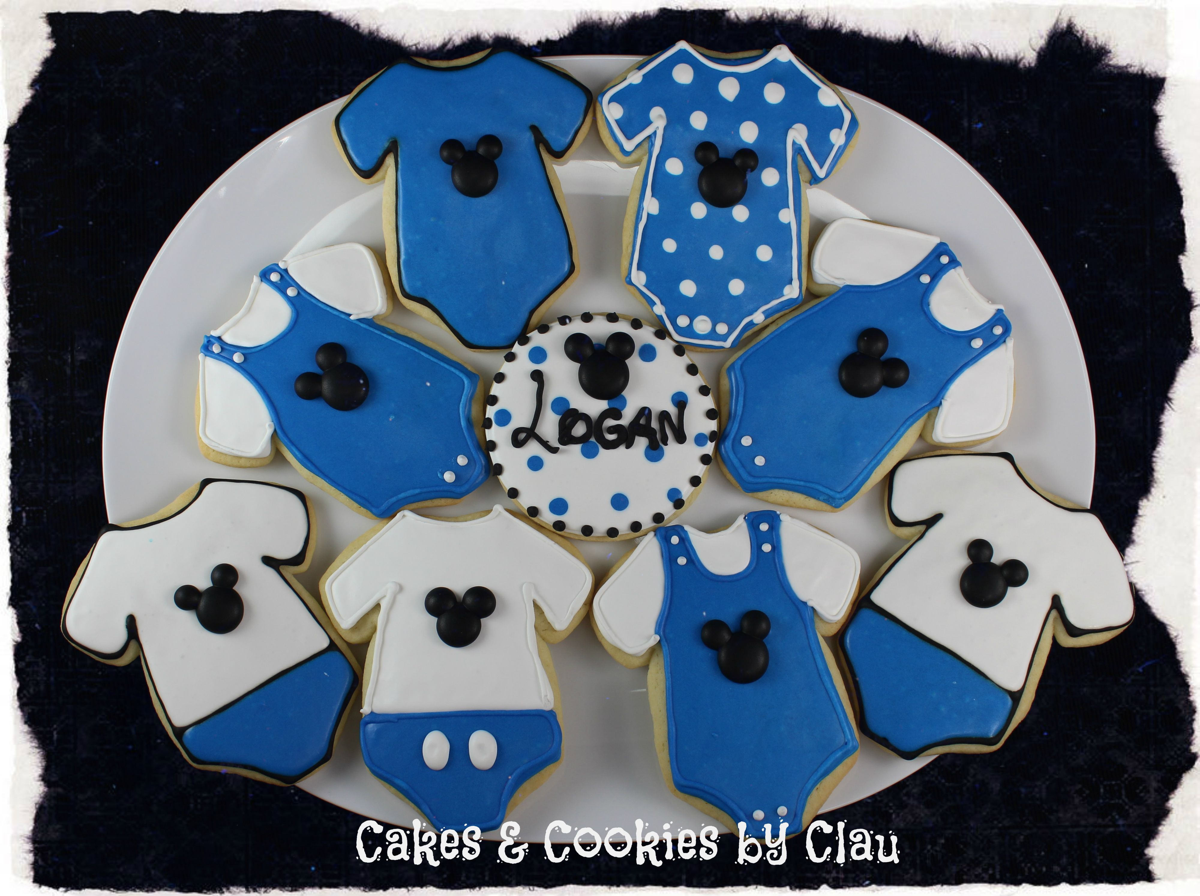 Mickey Mouse Baby Shower Sugar Cookies Val we need these from