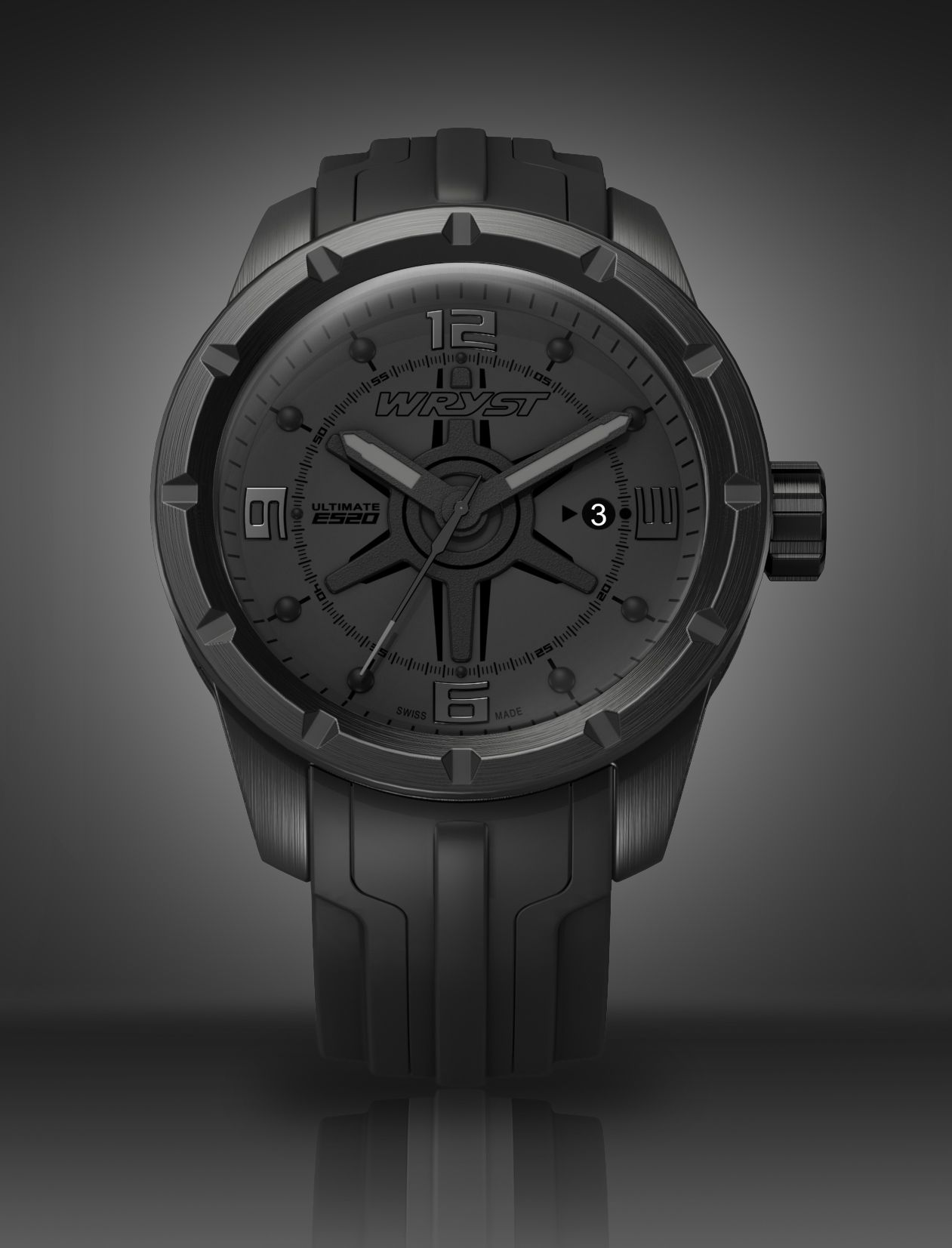 black watch wryst ultimate es20 black watches all black and all black swiss watch for men swiss made