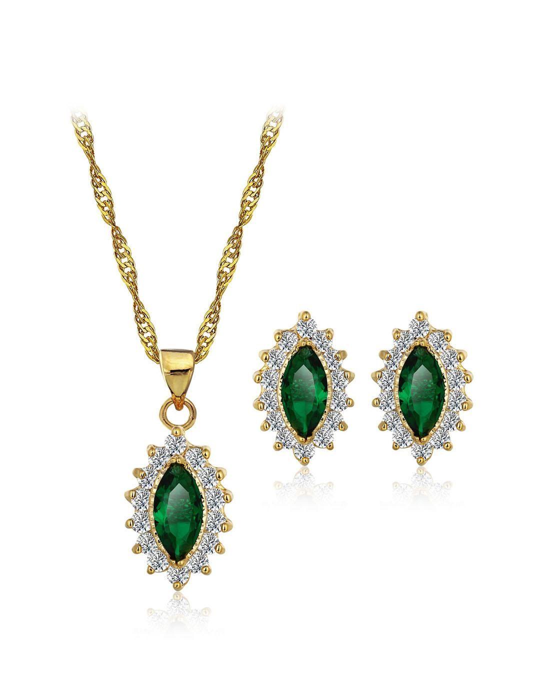 Adorewe vipme jewelry sets jewelora emerald green charm zircon