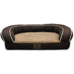 American Kennel Club Brown Orthopedic Sofa Bed Quilted Large