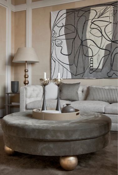 Jean Louis Deniot   art at home   Pinterest - Poef, Voetenbankjes en ...