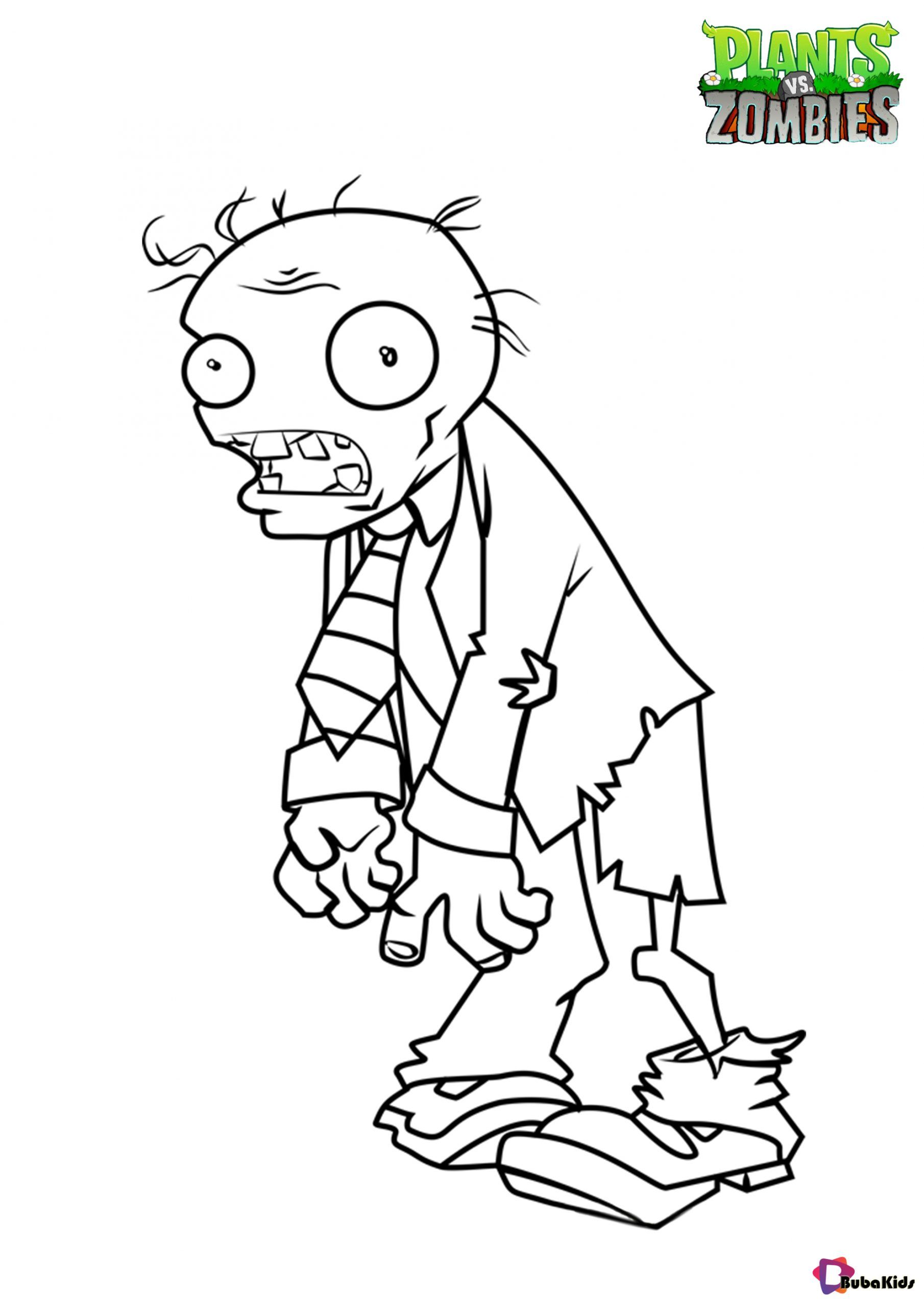 Free Download Plants Vs Zombies Coloring Page Collection Of Cartoon Coloring Pag Zombie Coloring Pages Cartoon Coloring Pages Plants Vs Zombies Coloring Pages
