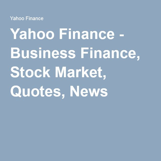 Yahoo Finance Business Finance Stock Market Quotes News Amusing Yahoo Finance  Business Finance Stock Market Quotes News