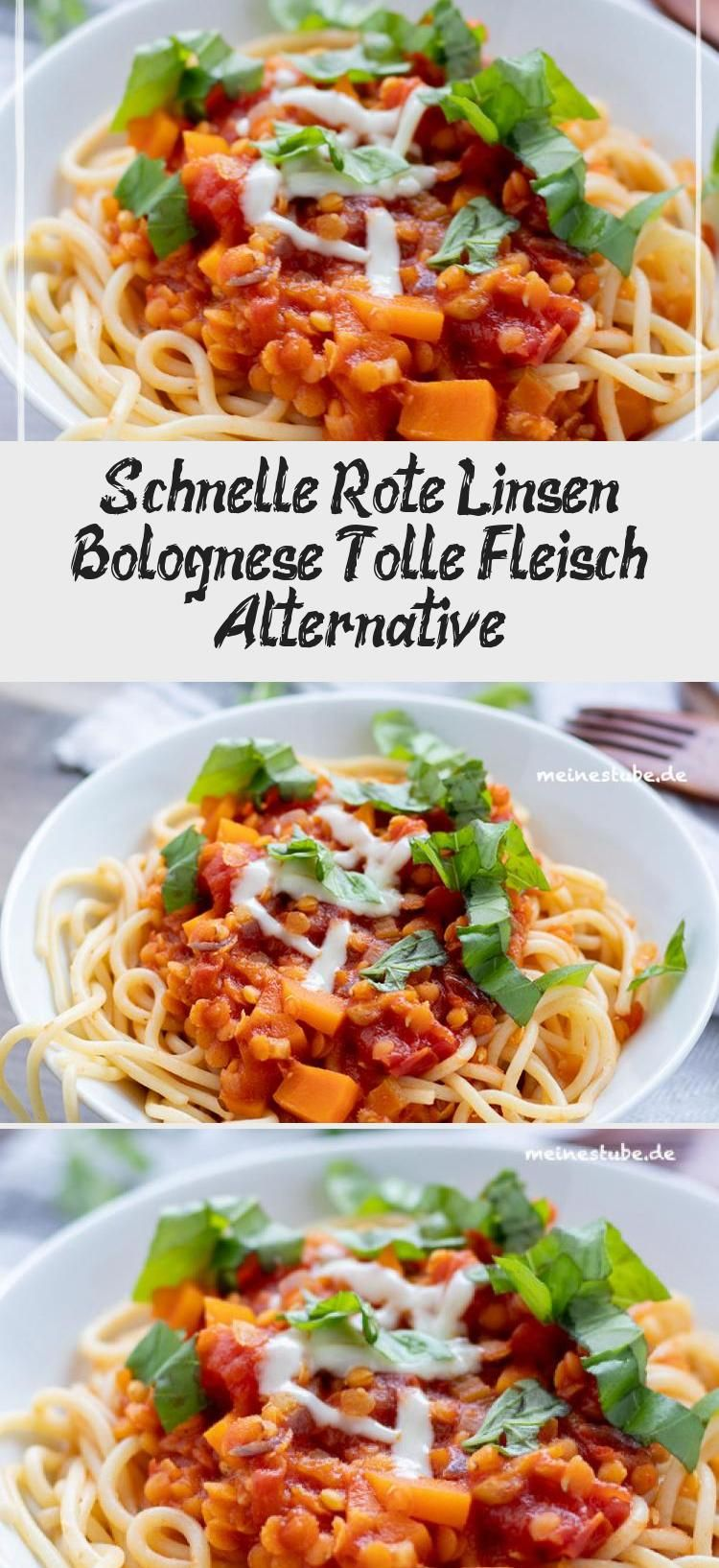 Schnelle Rote Linsen Bolognese, Tolle Fleisch Alternative