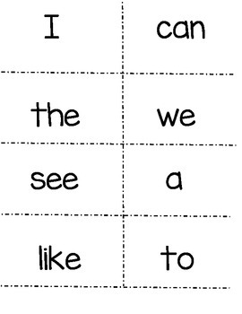 picture relating to Sight Word Flash Cards Printable named McGraw Hill Miracles Kindergarten Sight Terms! (as well as shade