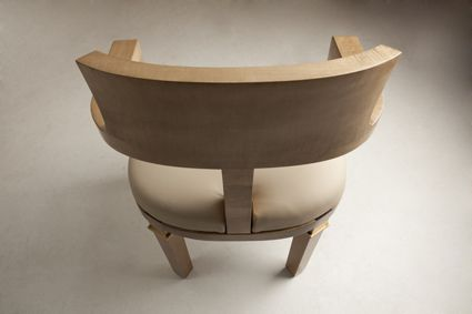 Chaise bureau cuir bois laiton tapisserie chaise