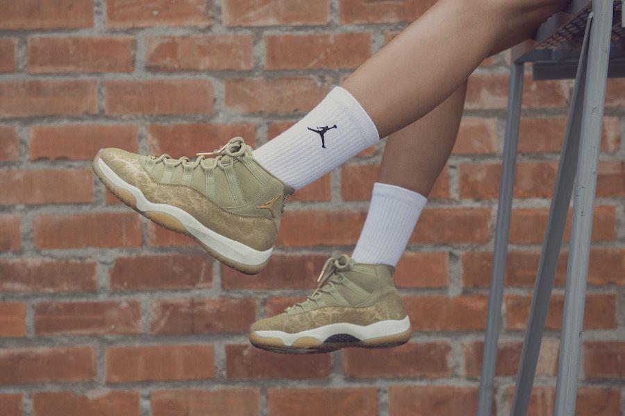 Nike Air Jordan 11 Olive Lux Wmns