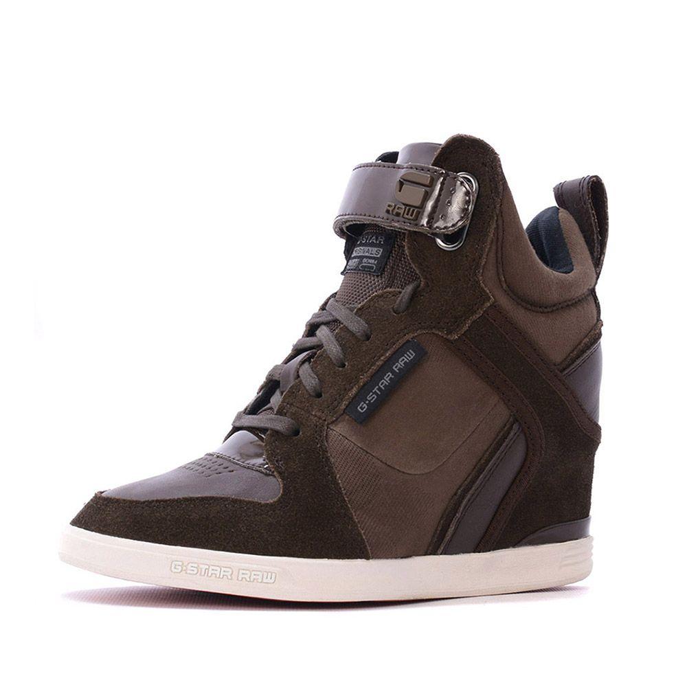 b62a282ea98 Trendy G-star wedge sneakers bruin Deze Damessneakers van G-Star zijn nu  voor