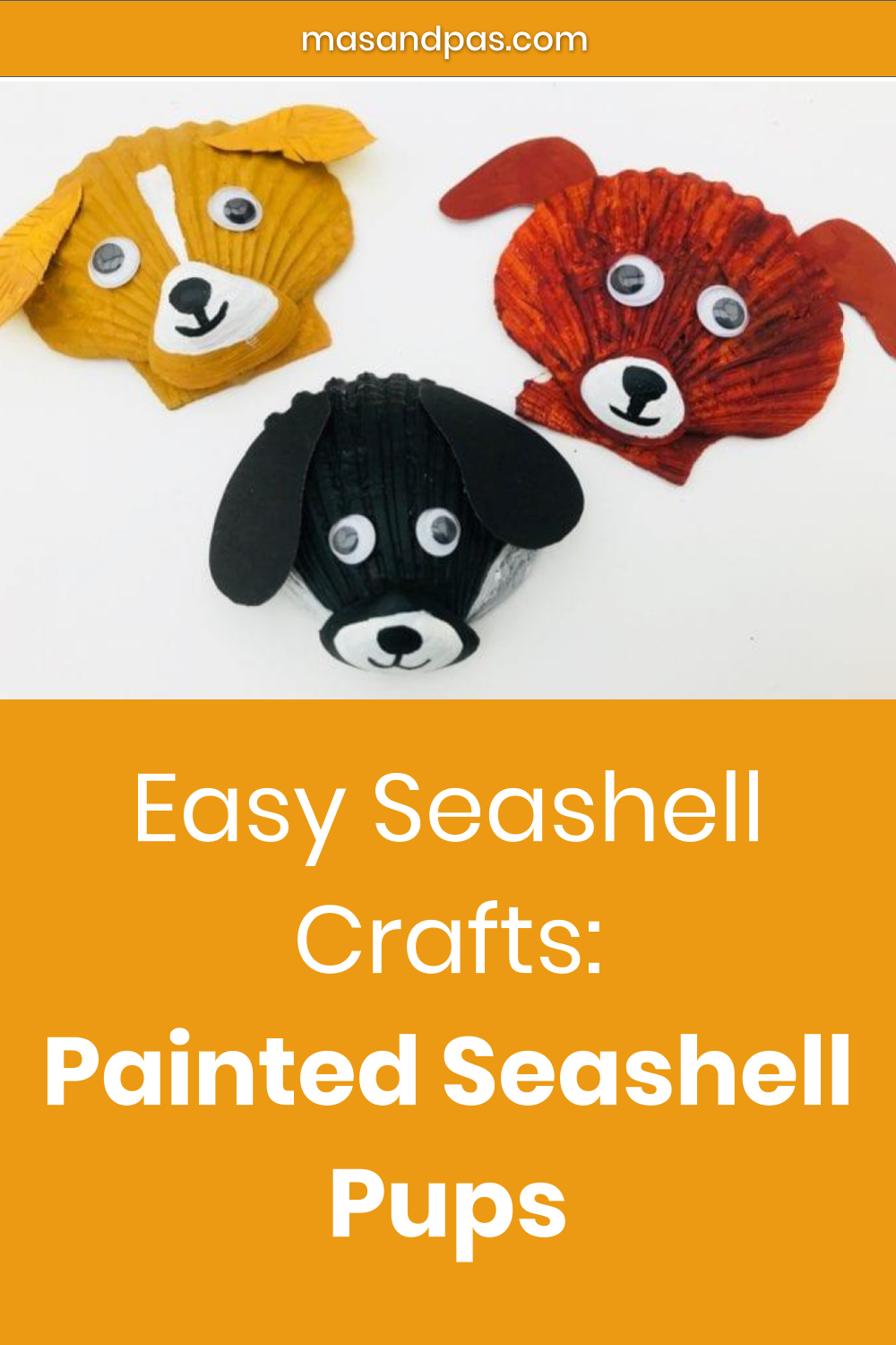 Easy Seashell Crafts Painted Seashell Pups With Images Summer Crafts For Kids Seashell Crafts Fun Crafts For Kids