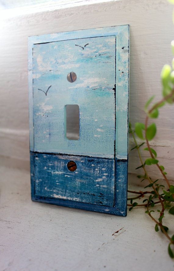 Hand Painted Ocean Light Switch Cover