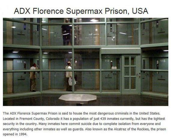 A Pod At Adx Florence Supermax Prison In Remote Colorado