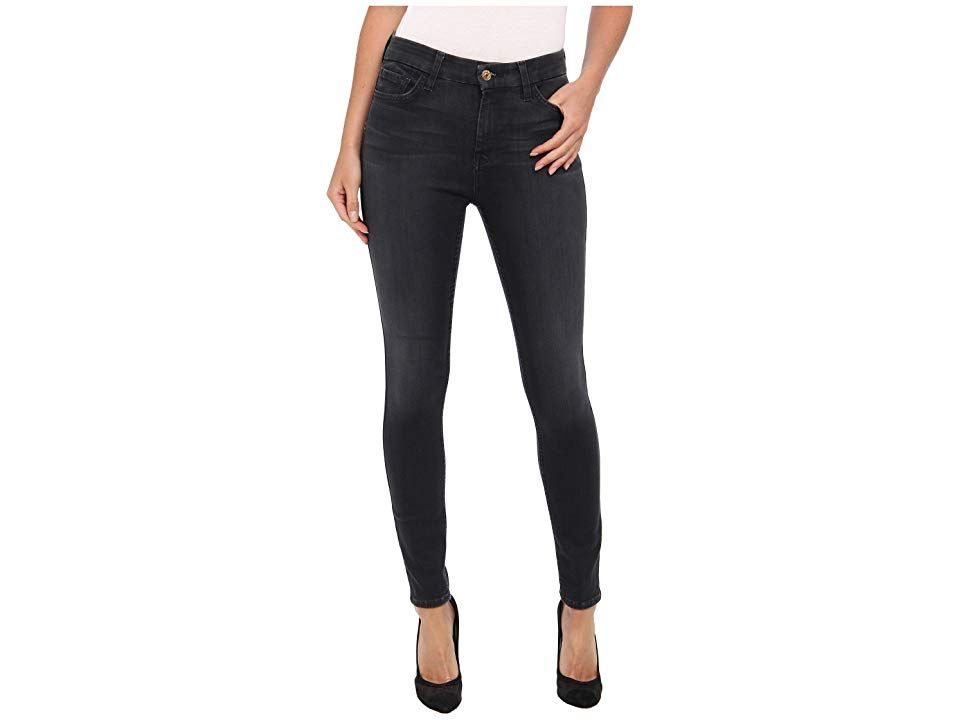 7 For All Mankind The High Waist Ankle Skinny W Contour Waistband