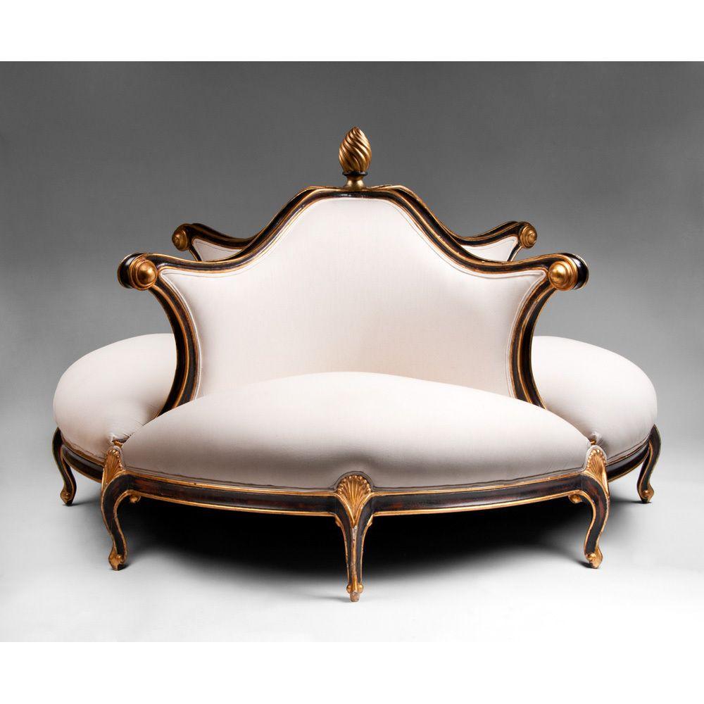 Contemporary Christopher Guy Four Seat Belle Epoch Style Confidante Classic Furniture Sofa Furniture Furniture