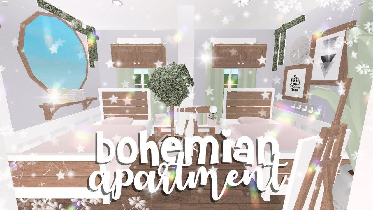 Roblox Bloxburg Bohemian Roleplay Apartment Youtube Roblox Pastel Pink Aesthetic Room Ideas Bedroom