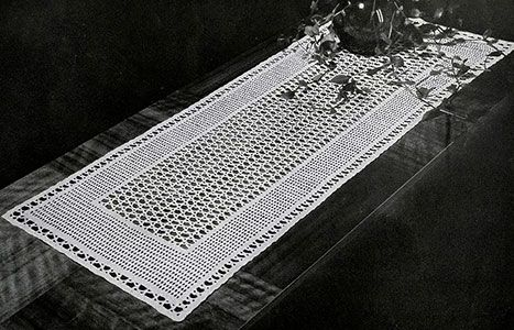 Free Filet Crochet Table Runner Pattern For The Love Of