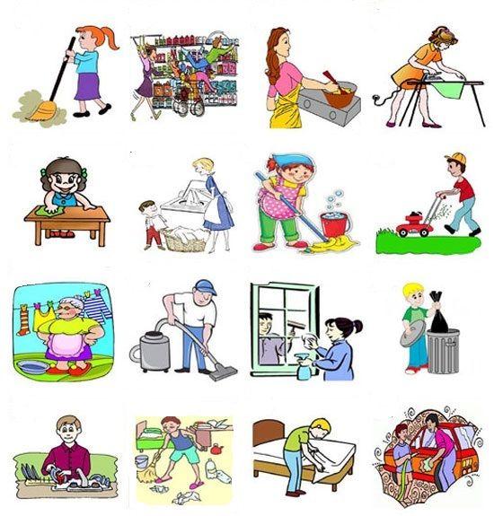 Las tareas de la casa hiszpanski ELE Pinterest Portuguese and