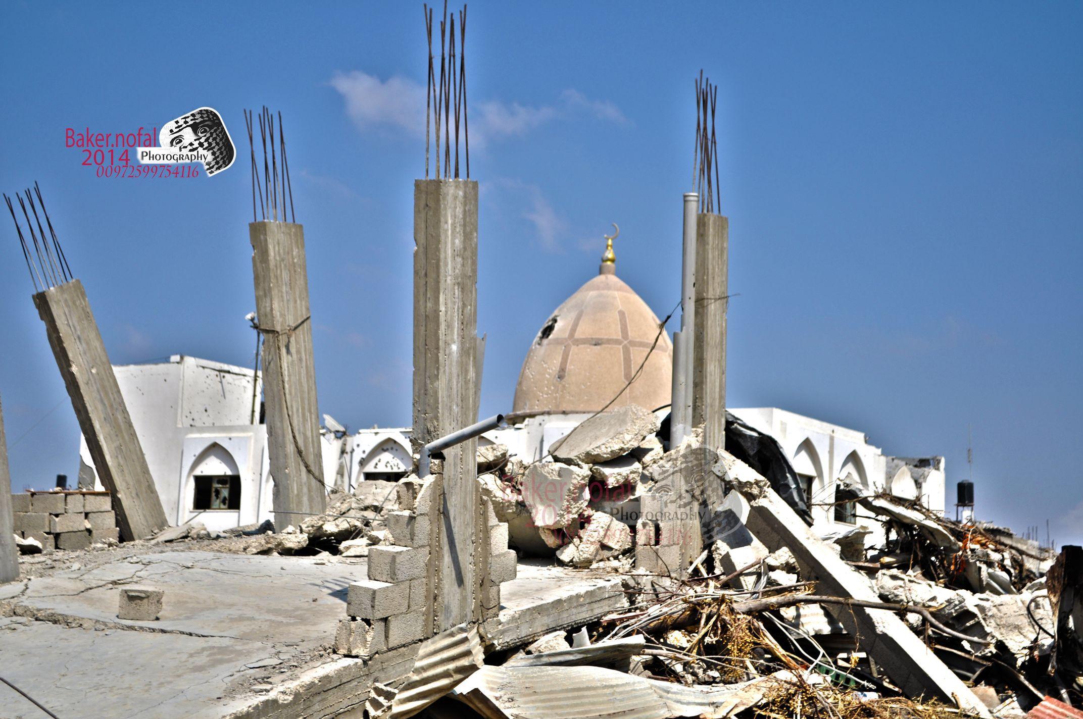 المساجد التى دمرها الإحتلال الإسرائيلي فى قطاع غزة Mosques Destroyed By The Israeli Occupation In The Gaza Strip Palestinian Gaza Landmarks