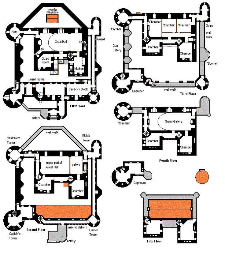 small castle floor plans