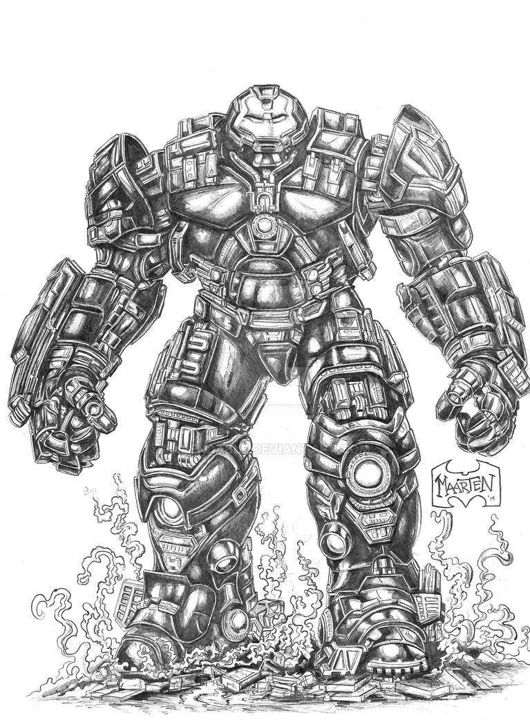Iron Man Hulkbuster By Xpendable On Deviantart Marvel Coloring Avengers Coloring Pages Iron Man Hulkbuster
