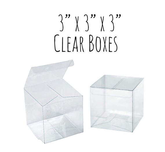 Download 3 X 3 X 3 Clear Boxes Wedding Favor Boxes Gift Box Etsy Wedding Favor Boxes Wedding Boxes Clear Box