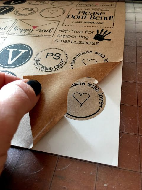 printable kraft paper sticker sheets free set of designs