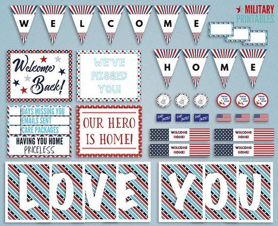 Military Homecoming Printable, Welcome Home Military, Deployment