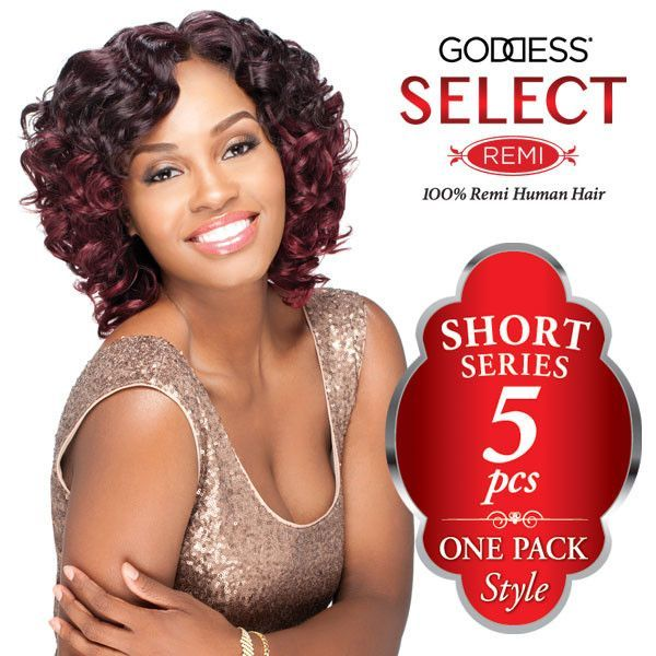 Sensationnel Goddess Select 100 Remi Human Hair Weaving Short
