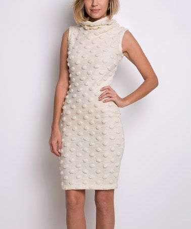 Ivory Irena Wool-Blend Dress