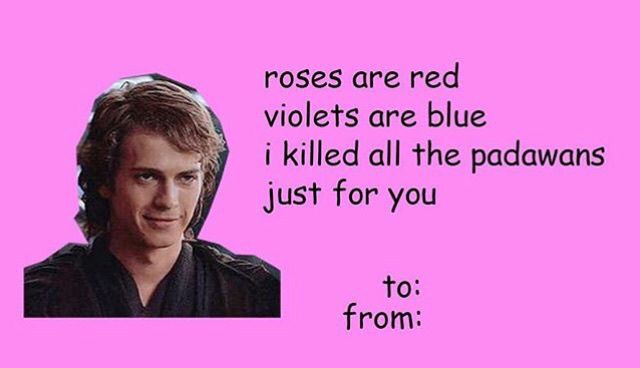 Pin By Calo On Star Wars Funny Valentines Cards Valentines Memes Star Wars Valentines