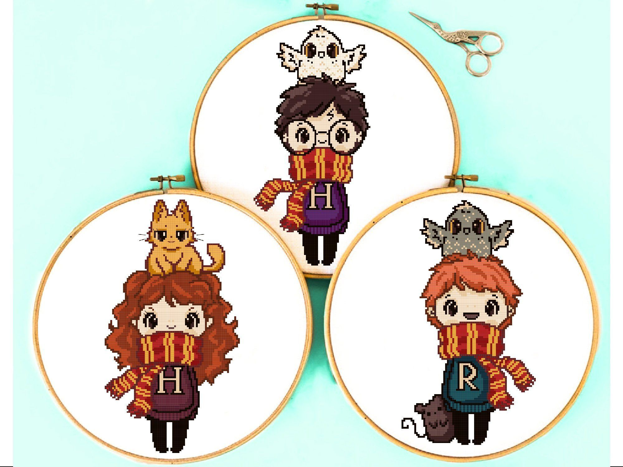 Harry Potter Cross Stitch Pattern Hermione Quote Modern Embroidery Chart Counted Xstitch Easy Funny PDF Sampler Birthday DIY Gift Animls
