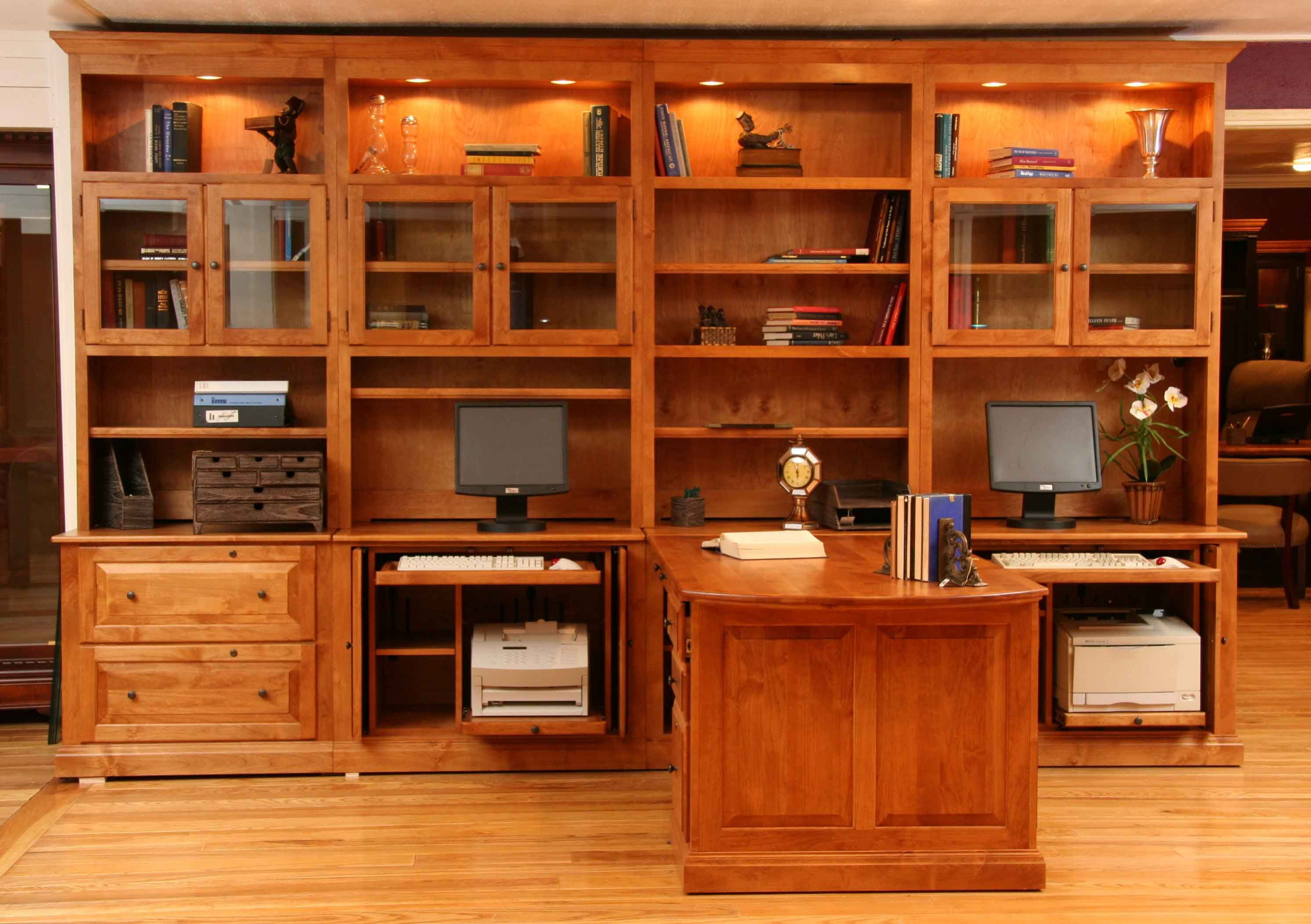 dual home office home is where the heart is pinterest desks walls and built ins. Black Bedroom Furniture Sets. Home Design Ideas