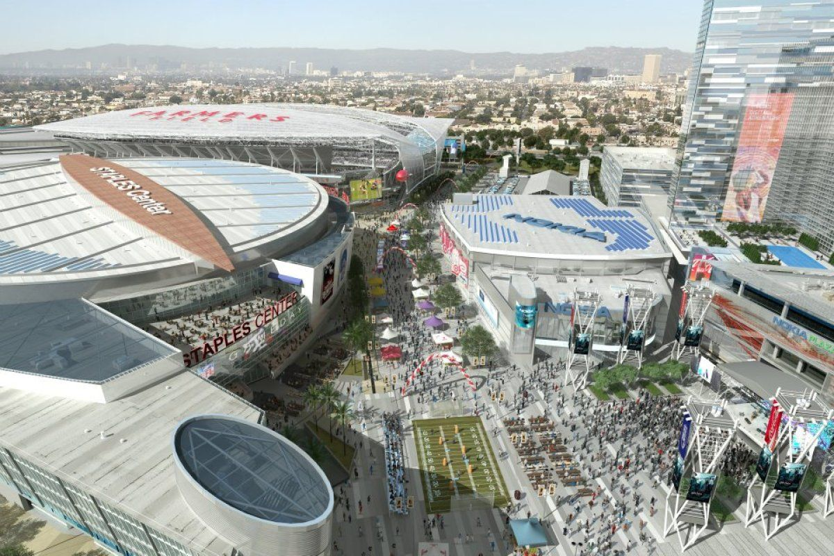 Bad News For La S Football Fans Nfl Stadiums Convention Centre Field