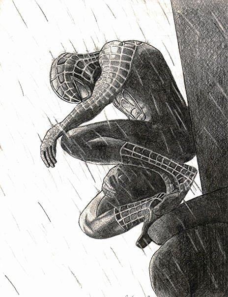 Dibujos A Lapiz De Spiderman Negro