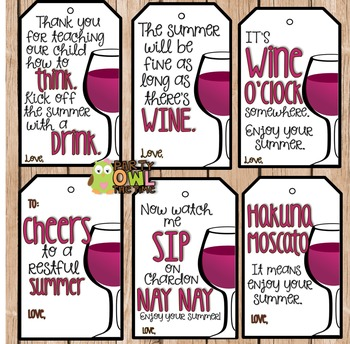 Teacher Gift Wine Label Our Child May Be the Reason You