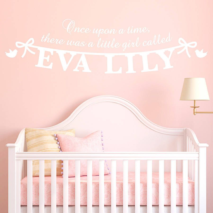 Personalised Girlu0027s Name Wall Sticker Design