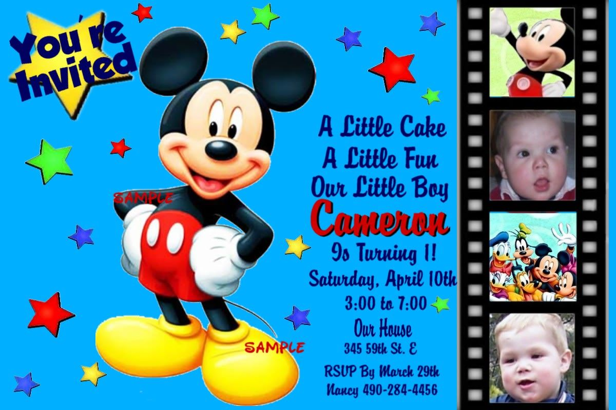 Invitation Wording Mickey Mouse Birthday | Invitations | Pinterest ...