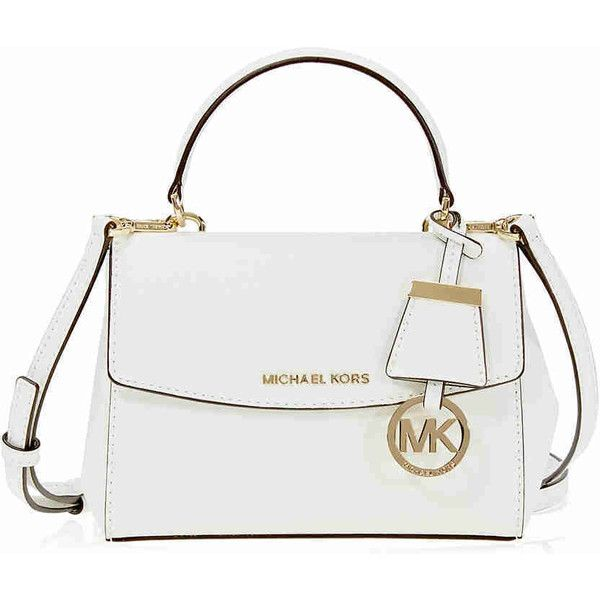 Michael Kors Ava Extra Small Saffiano Leather Crossbody - Optic White  ( 126) ❤ liked on Polyvore featuring bags bcc7dd0d6f150