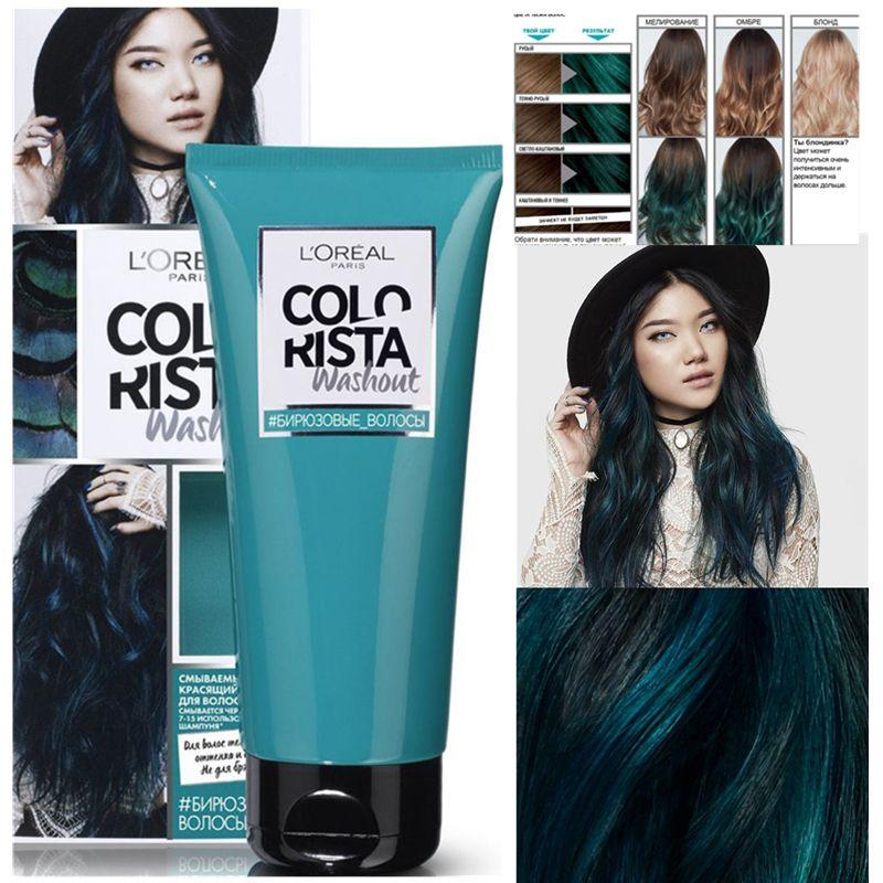 L Oreal Colorista Hair Dye Cream Denim Blue Turquoise Blue Thin