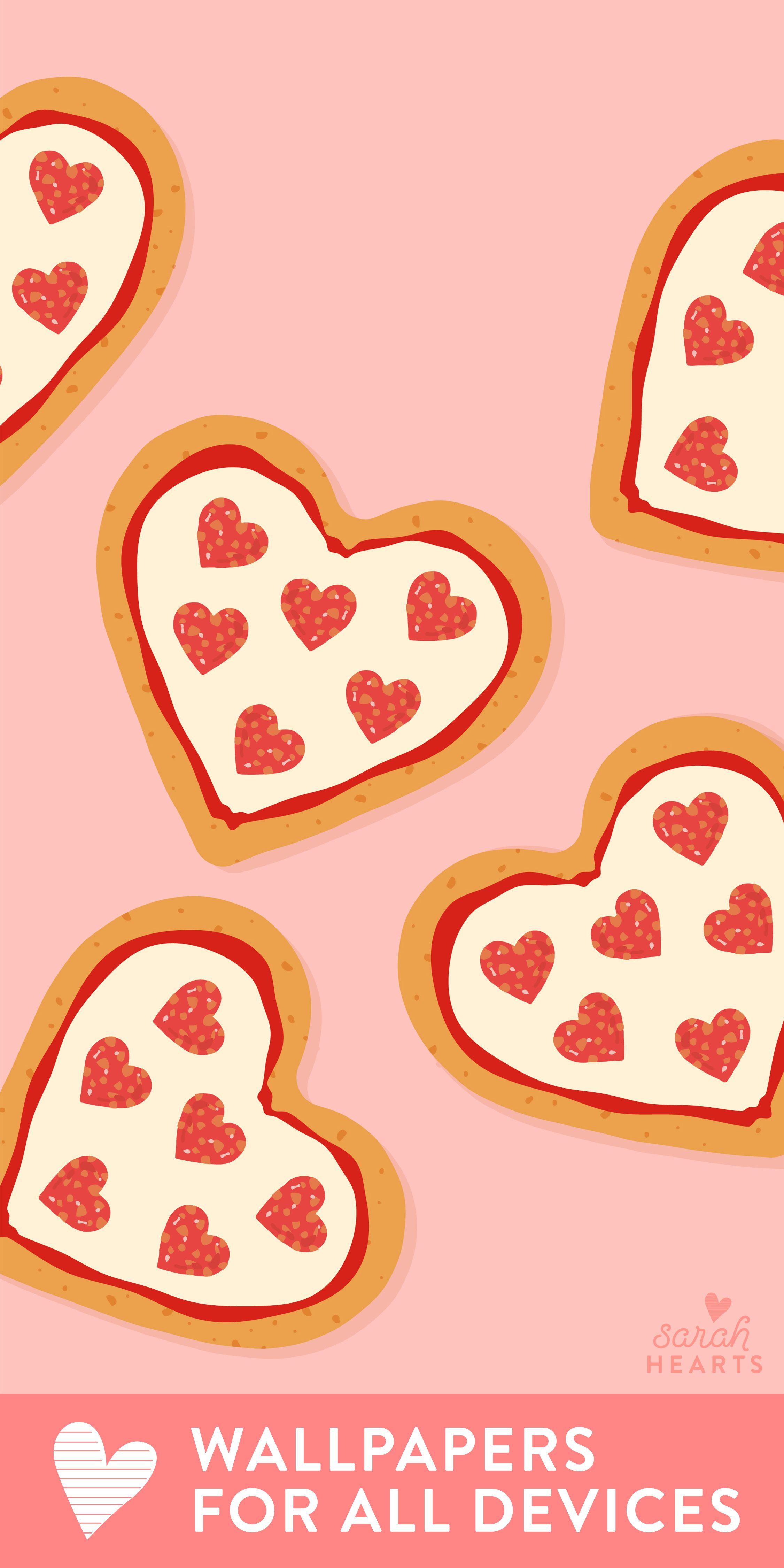 Shaped Heart Tumblr Pizza