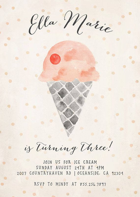 Ice cream birthday party invitation by kellimurrayart on etsy ice cream birthday party invitation by kellimurrayart on etsy filmwisefo