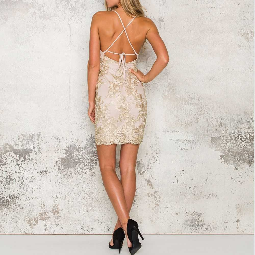 Tie Back Bodycon Cross Back Strappy Dress Bodycon Rose Gold Short Dress Homecoming Homecoming Homecomingdresses Homec Bodycon Dress Dresses Gold Dress Short [ 1000 x 1000 Pixel ]