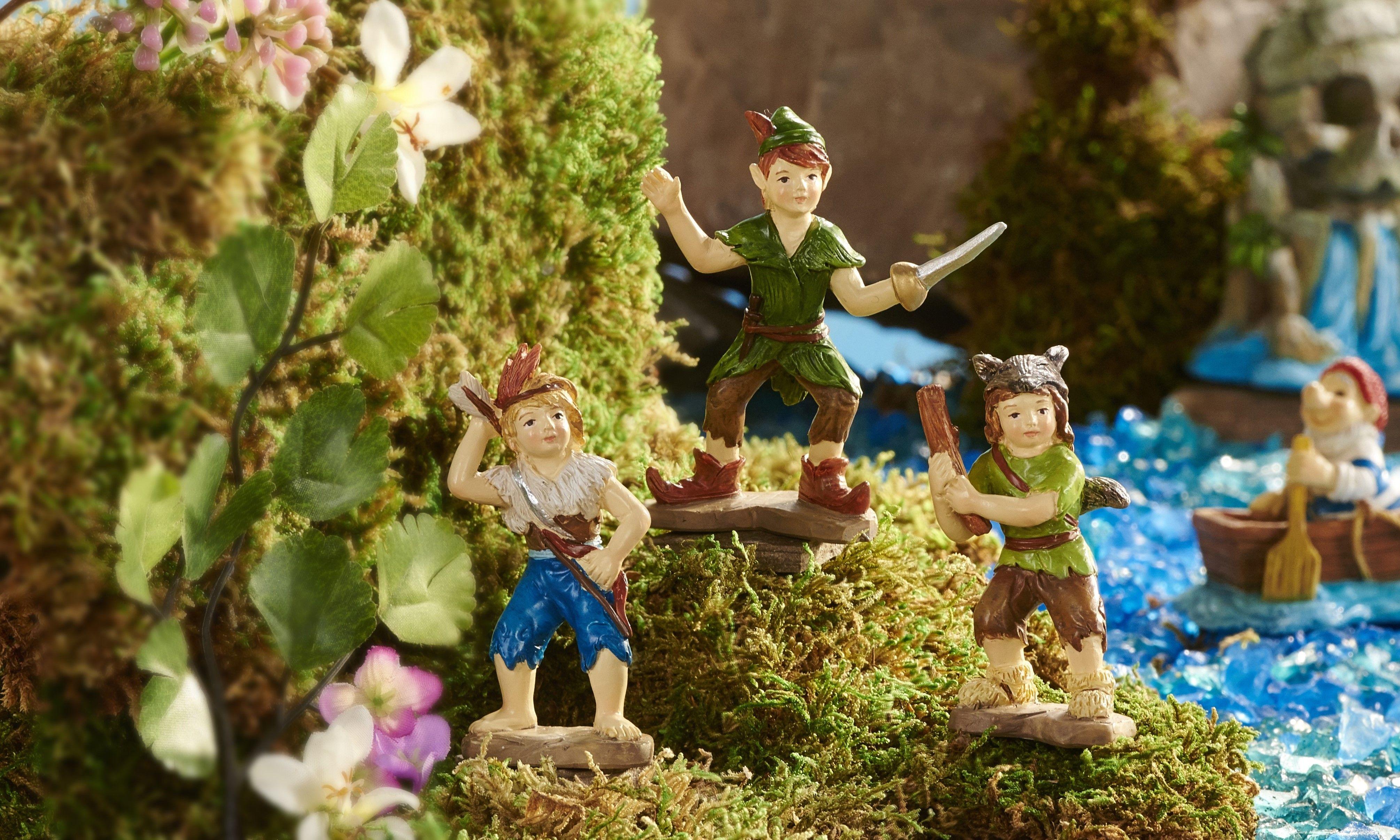 Fairy Garden Miniature Peter Pan Neverland Fighters - Set of 3 - My ...